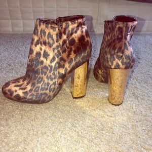 Cheetah print boots